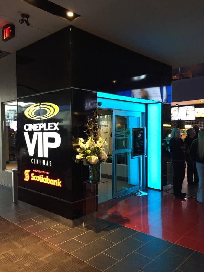 custom signs and LED lighting for Cineplex Markham
