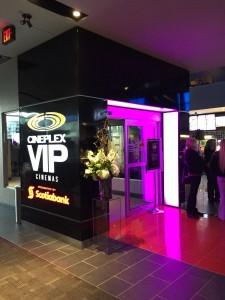 digital display at Cineplex Theatre