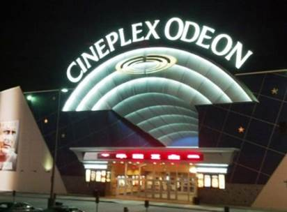Cineplex custom signage