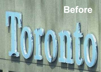 Toronto Star's old channel letter sign