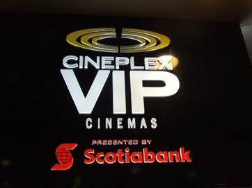 Corporate signage for Cineplex