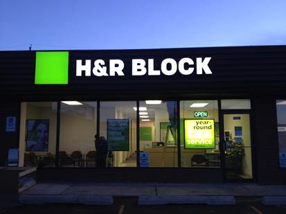 H&R Block store sign