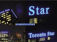 Custom LED signs made for Toronto Star