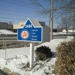 corporate signage for CAA Burlington