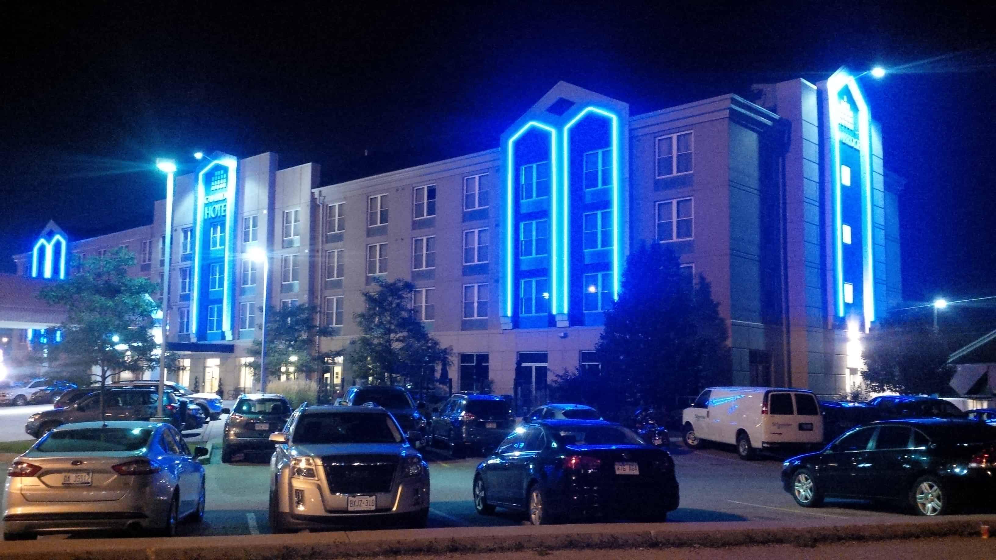 Exterior accent lighting upgrade for cambridge hotel - Exterior accent lighting for home ...