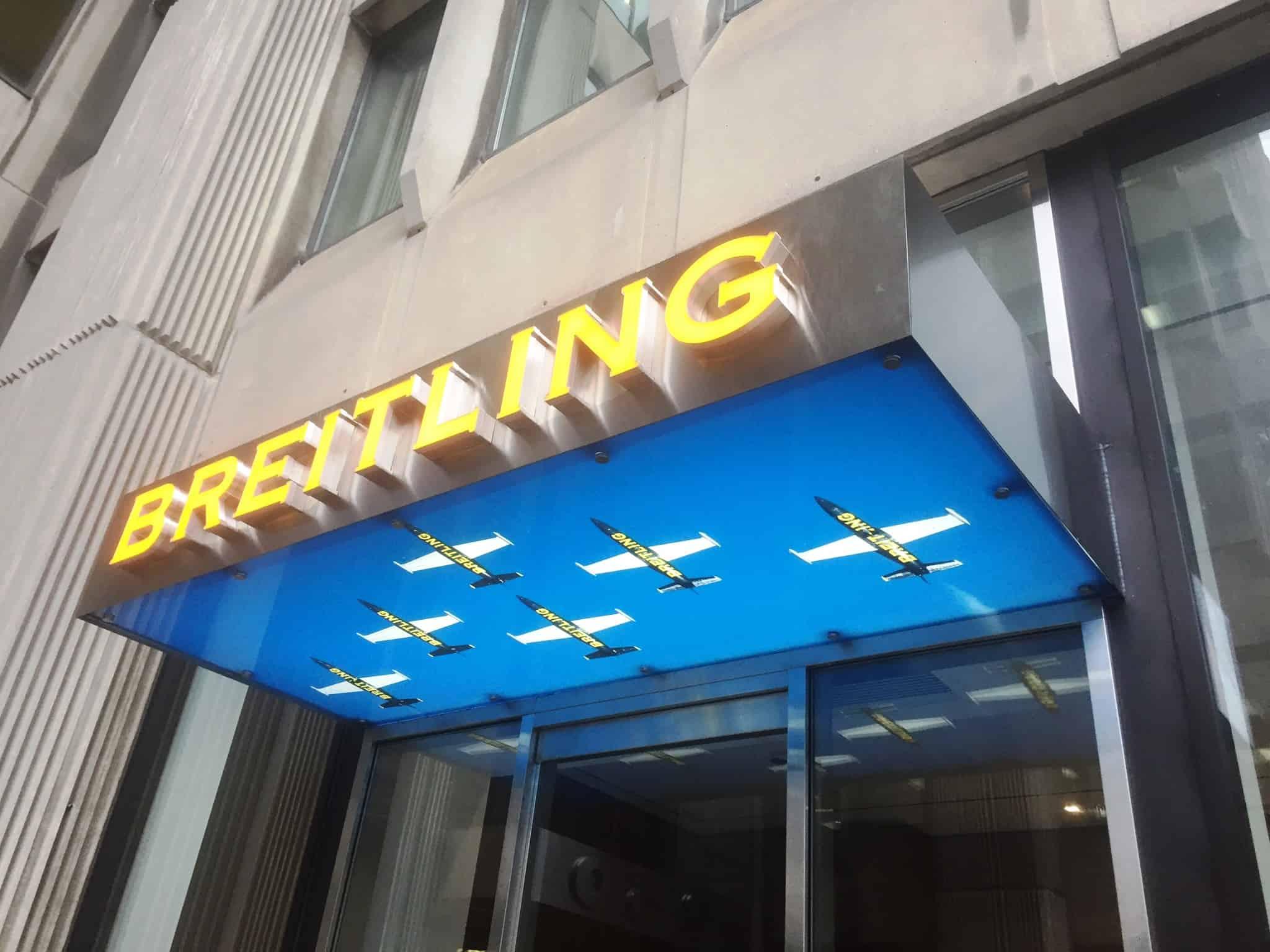 Breitling - New Sign Canopy - Bloor Street Toronto 2