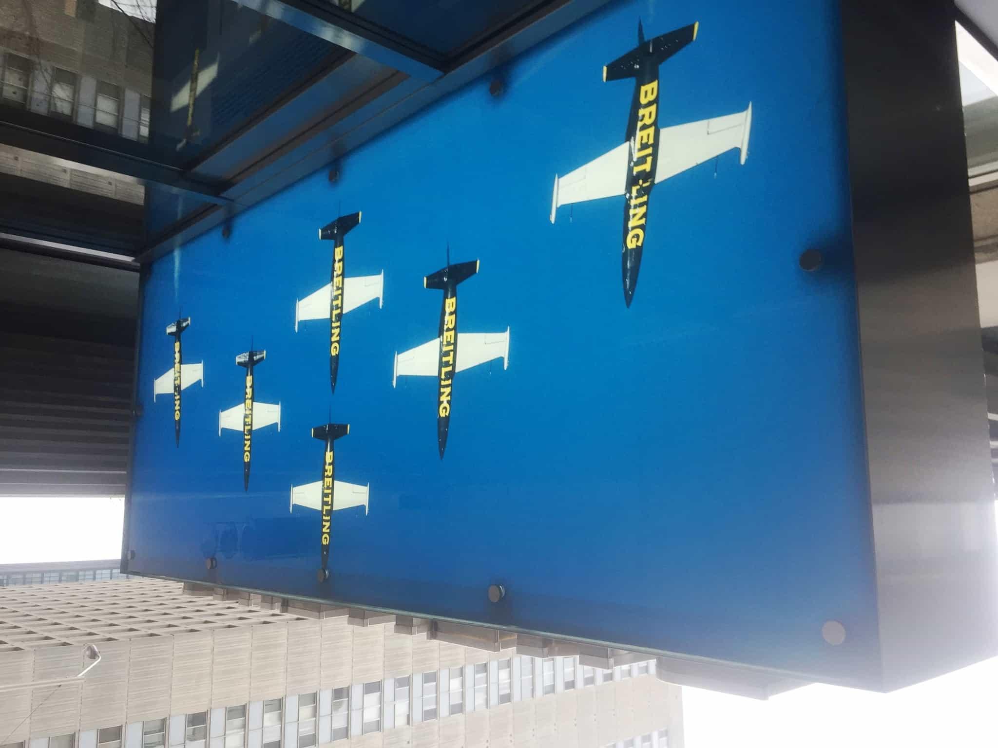Breitling - New Sign Canopy - Bloor Street Toronto